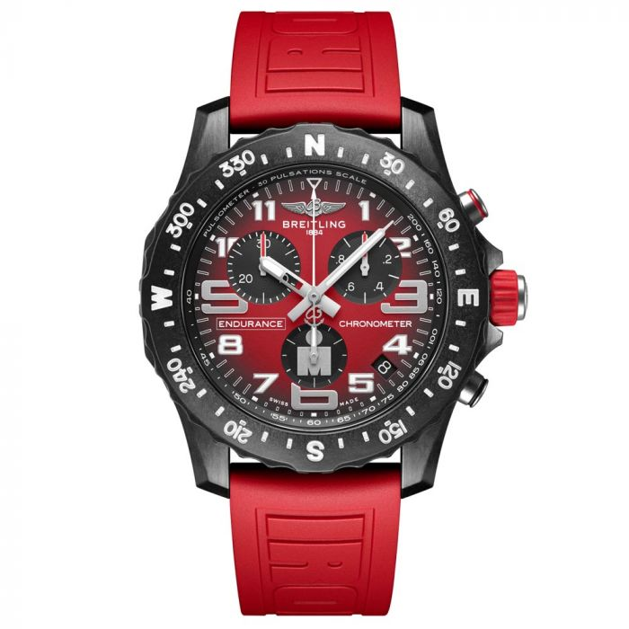 Breitling Endurance Pro IRONMAN 44mm Red Dial Breitlight Gents Watch X823109A1K1S1