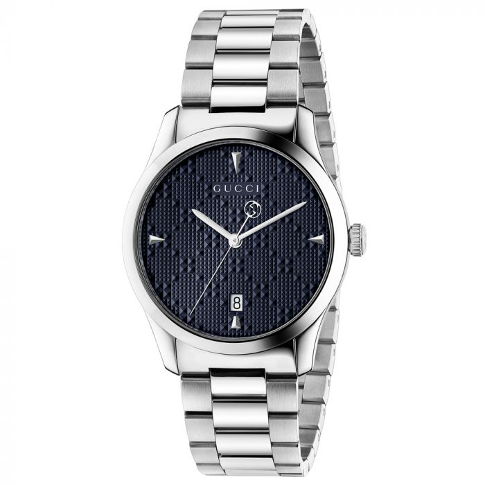 Gucci Gents G-Timeless Blue Dial Stainless Steel Watch YA1264025A