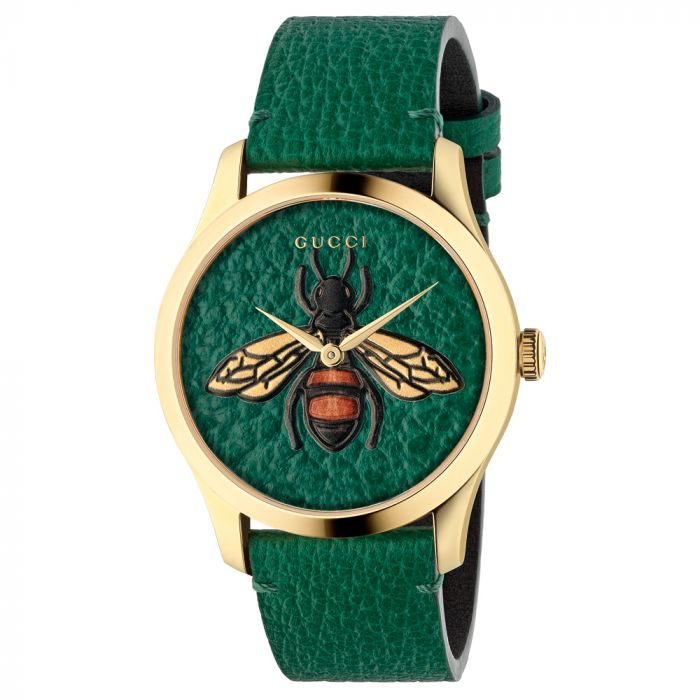 Gucci G-Timeless Gold PVD & Multi-Coloured Dial Watch YA1264065 SPECIAL