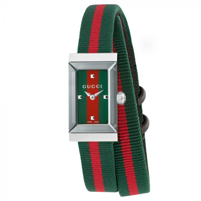 Gucci Ladies G-Frame Stainless Steel & Multi-Coloured Dial Watch YA147503 SPECIAL