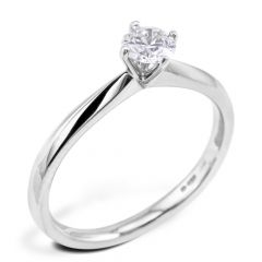 Platinum 0.336ct Round Brilliant Cut Hearts On Fire Diamond Engagement Ring SPECIAL