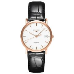 Longines Elegant Collection 18ct Rose Gold White Dial Automatic Watch L47788120 SPECIAL