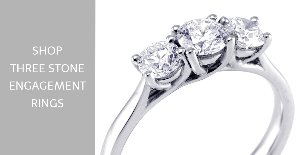 Buy Three Stone Engagement Rings Online